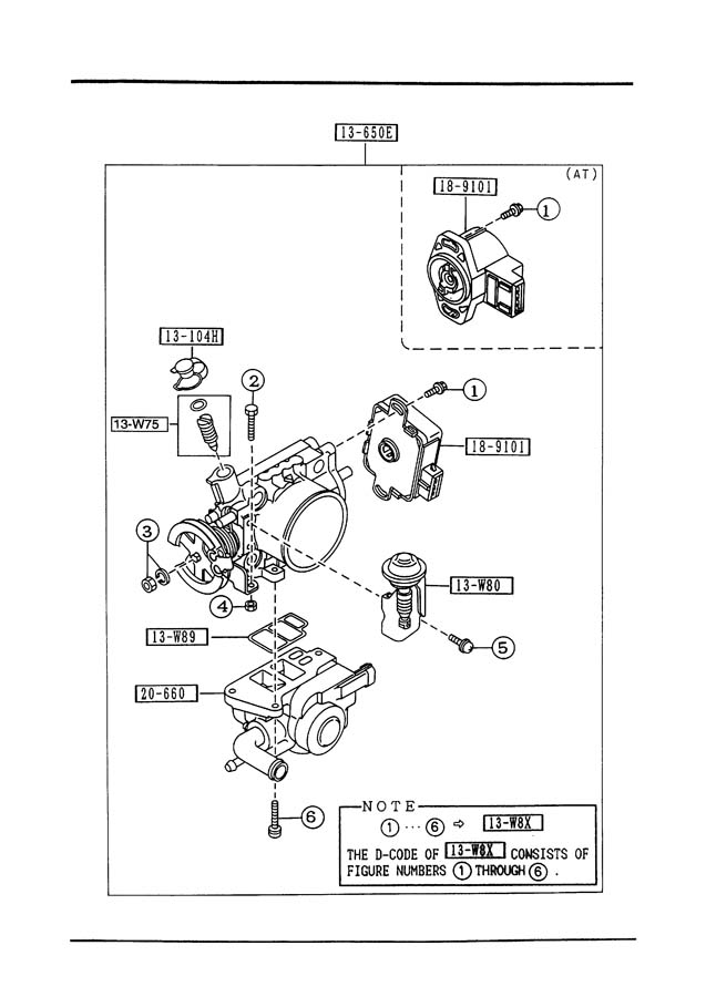 Mazda 323 Idle. Control. Air. SOLENOID. SPEED. Fuel