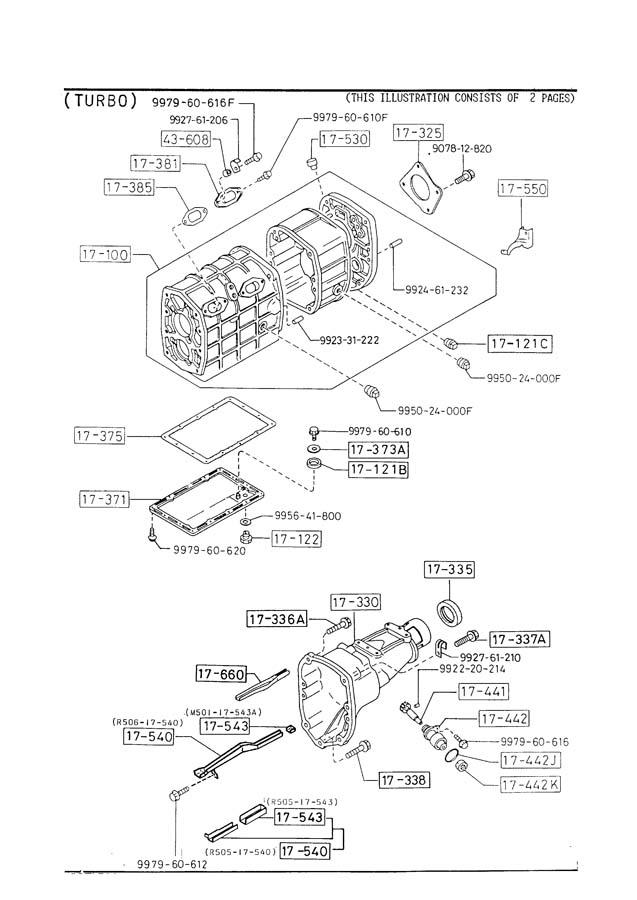 1990 Mazda RX-7 MANUAL TRANSMISSION CASE