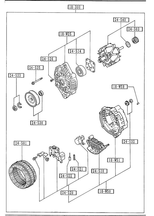 1985 Mazda 626 ALTERNATOR