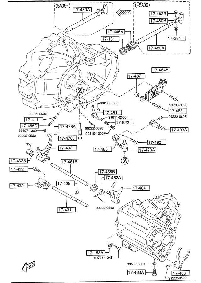 [DIAGRAM] Mazda Protege Manual Transmission Diagram FULL
