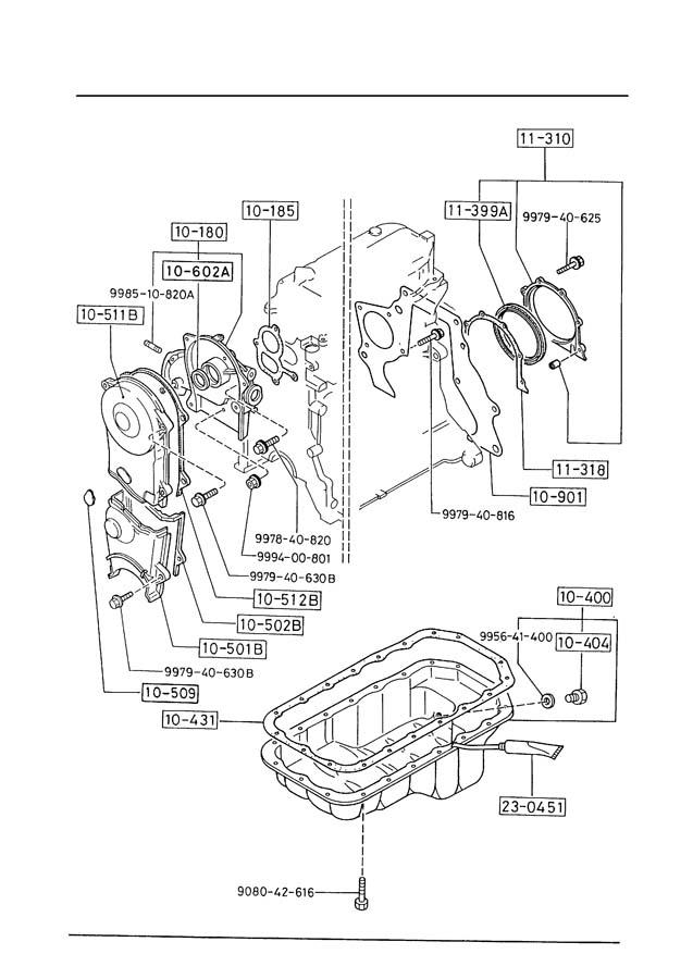 Mazda OIL PAN & TIMING COVER (2000CC)