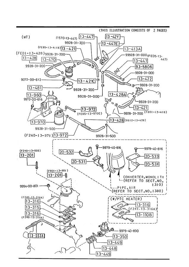 Mazda B2600 FUEL SYSTEM (W/O EGI)