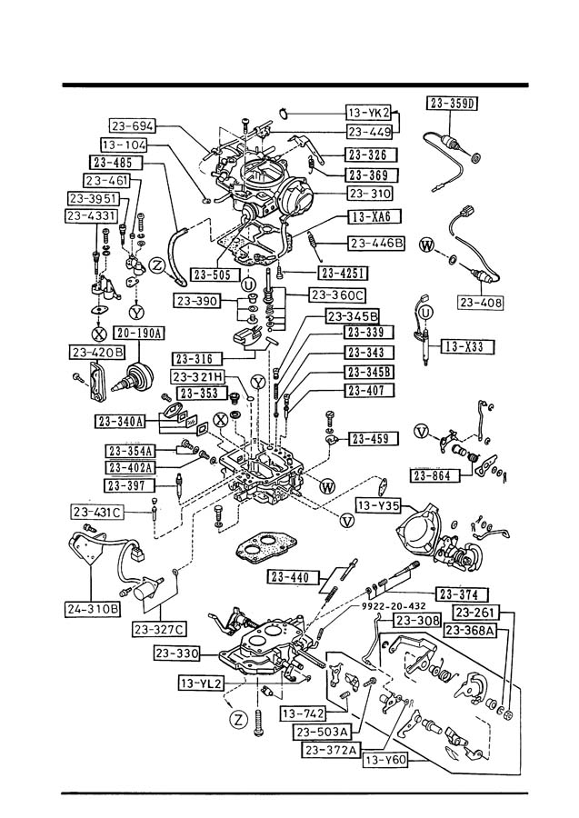 1989 Mazda B2200 Carburetor Diagram. Mazda. Wiring Diagram