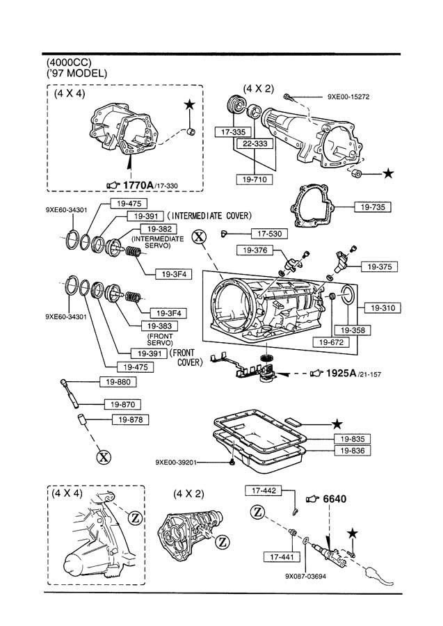 Mazda B4000 Retainer, servo. Intband, band, int
