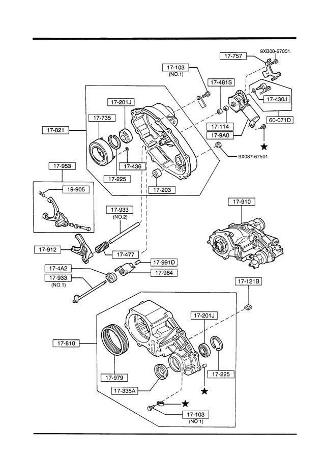 Mazda TRANSFER CASE,GEAR & SHIFT LINKAGE (4X4)(ELECTRIC SHIFT)