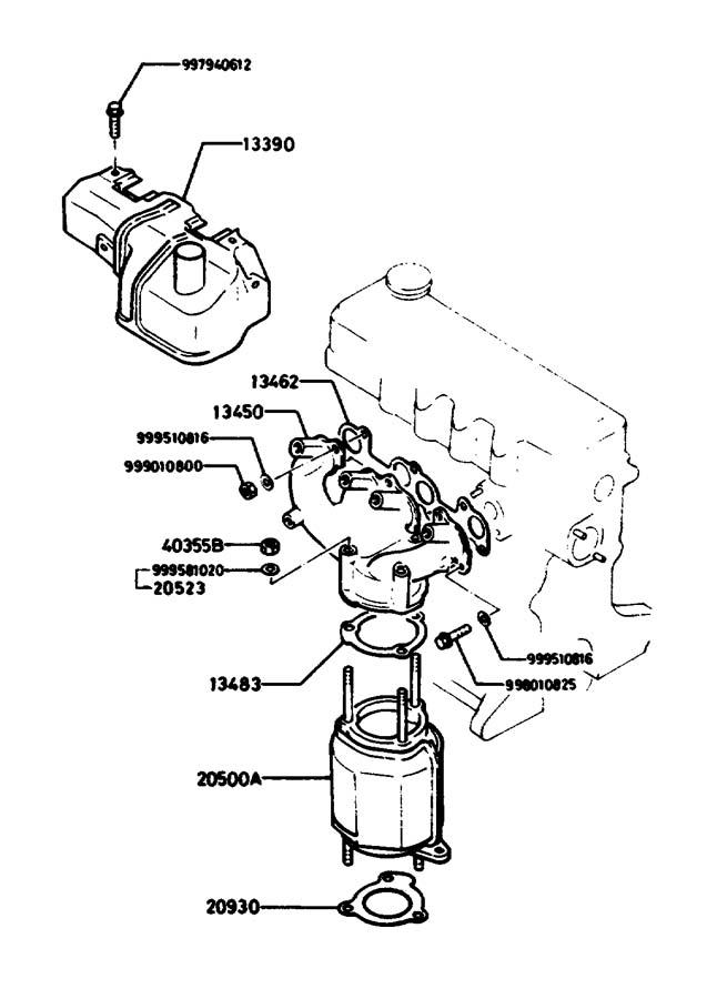 1993 Mazda B2200 Exhaust Pipe to Manifold Gasket