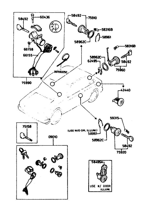 1995 Mazda Miata Bolt. Steering. Column. Lock. 1999-00