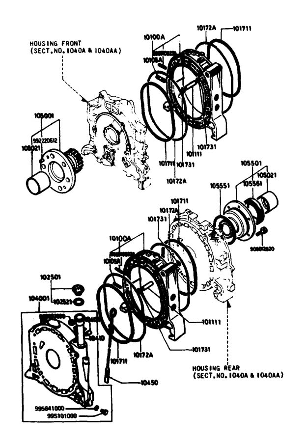 2004 Mazda RX-8 Main bearing. Rotor, housings