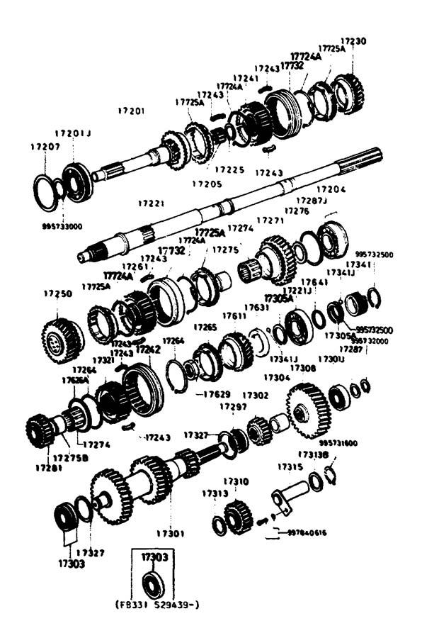 1992 Mazda Miata Manual Transmission Input Shaft Bearing