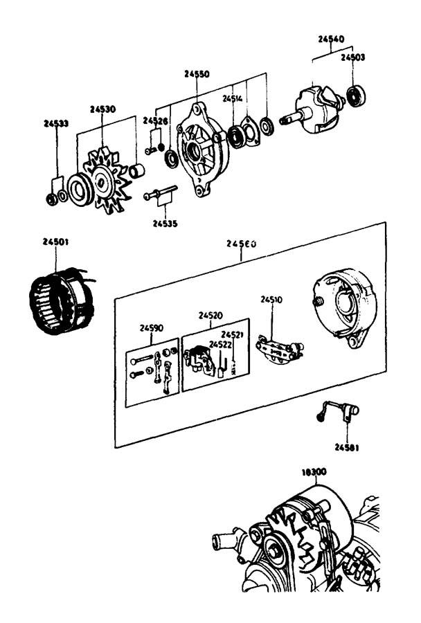 1988 Mazda B2200 Bearing, ball. Pistoncrankshaft, diesel