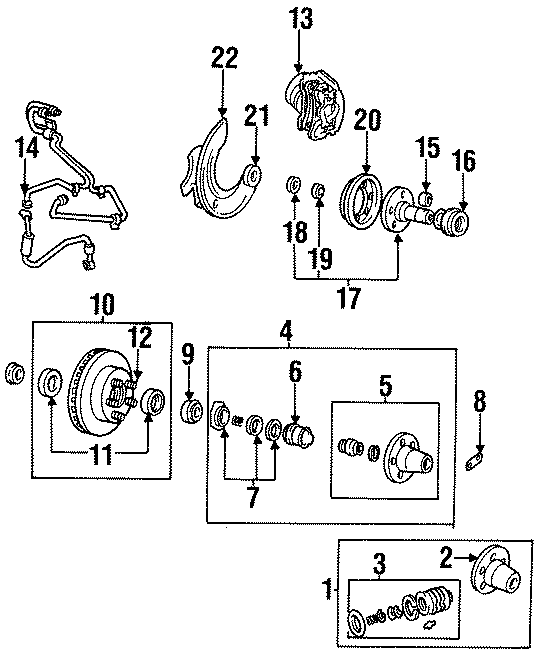 1996 Mazda B4000 Hub Manual. Locking Hub. Included with