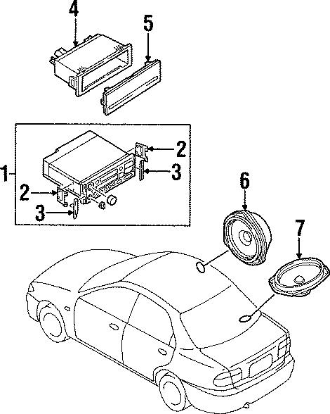 1997 Mazda Miata Instrument Panel Cover. W/o radio