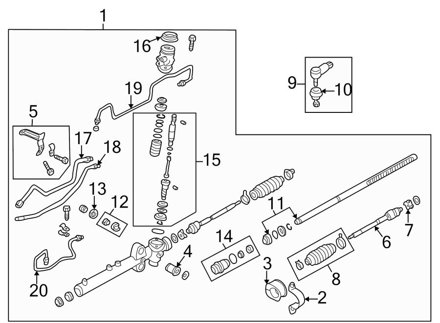 2002 Mazda Protege 5 Rack and Pinion Mount Bushing
