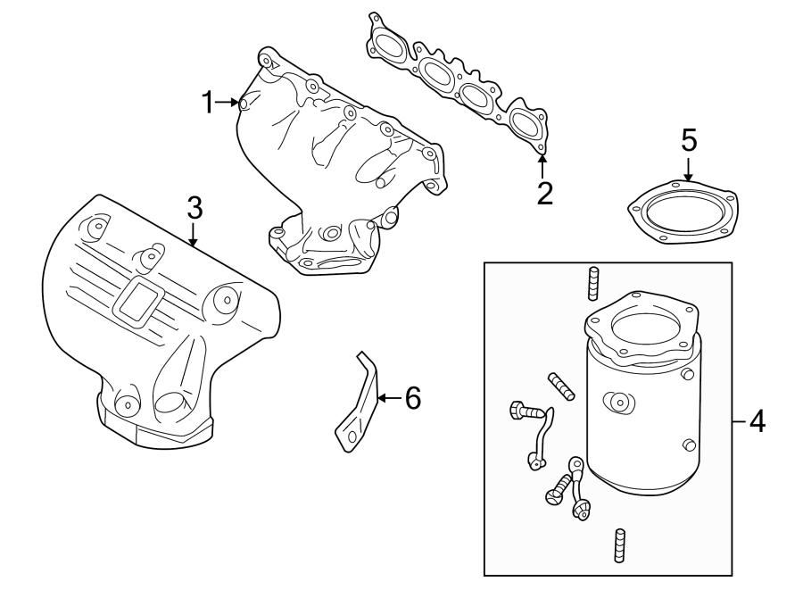 2003 Mazda Protege 5 Exhaust Manifold Heat Shield