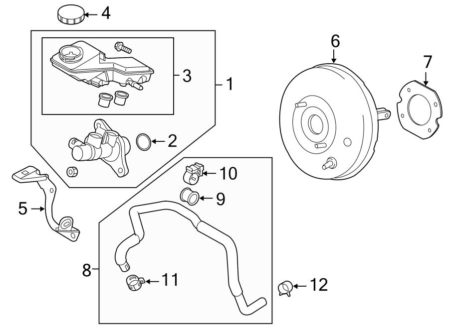 2015 Mazda 3 Power Brake Booster Vacuum Hose Clamp. Lower