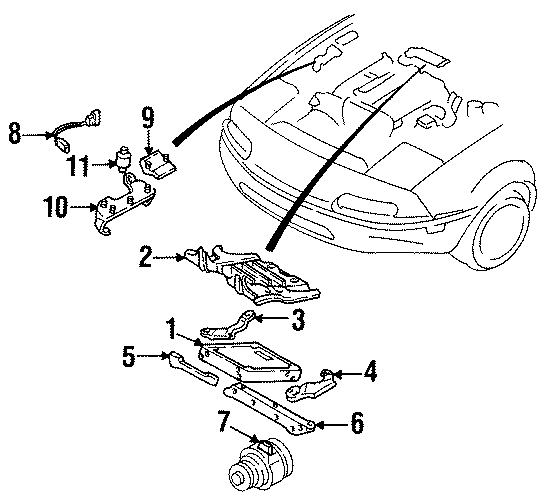 1990 Mazda Miata Engine Crankshaft Position Sensor