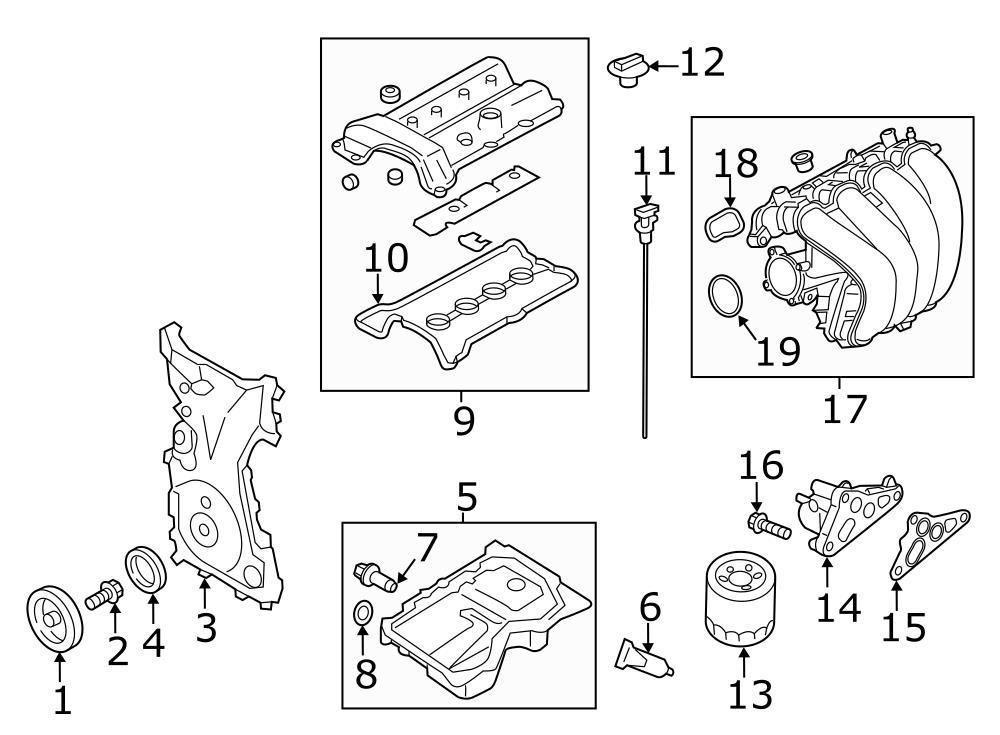 2017 Mazda MX-5 Miata Engine Oil Filter Adapter