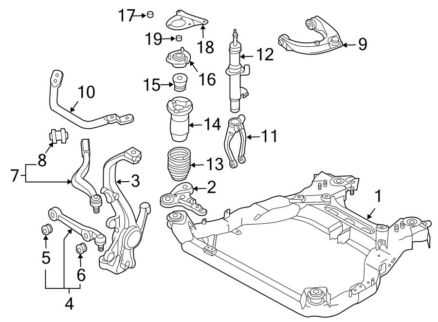 2006 Mazda Mazda 6 Engine Cradle (Front). Mazda6; 3.0L