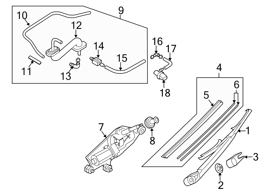 2010 Mazda CX-7 Back Glass Wiper Blade. CX-7. CX-9. Blades