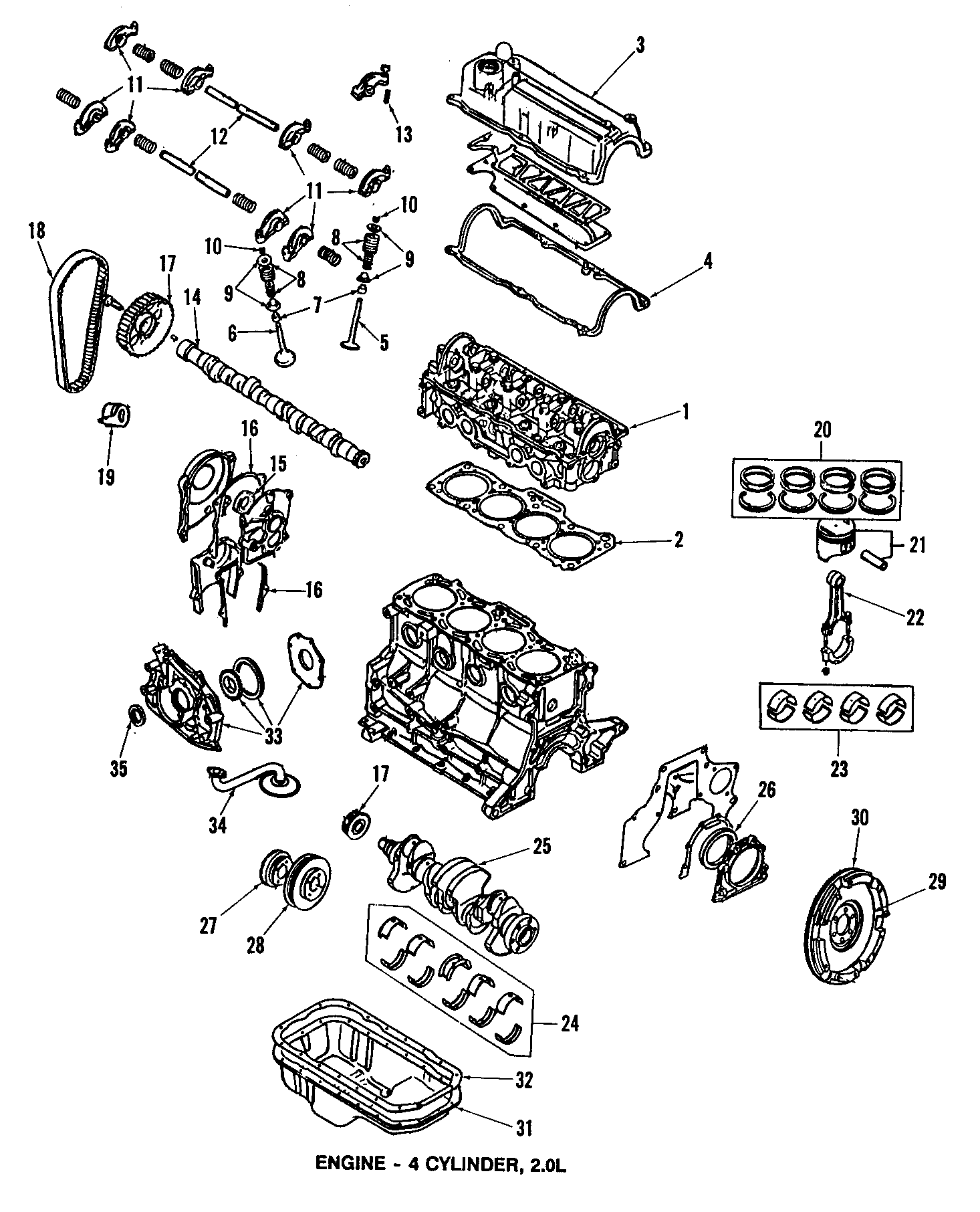 1986 Mazda B2000 Engine Timing Camshaft Sprocket. 626
