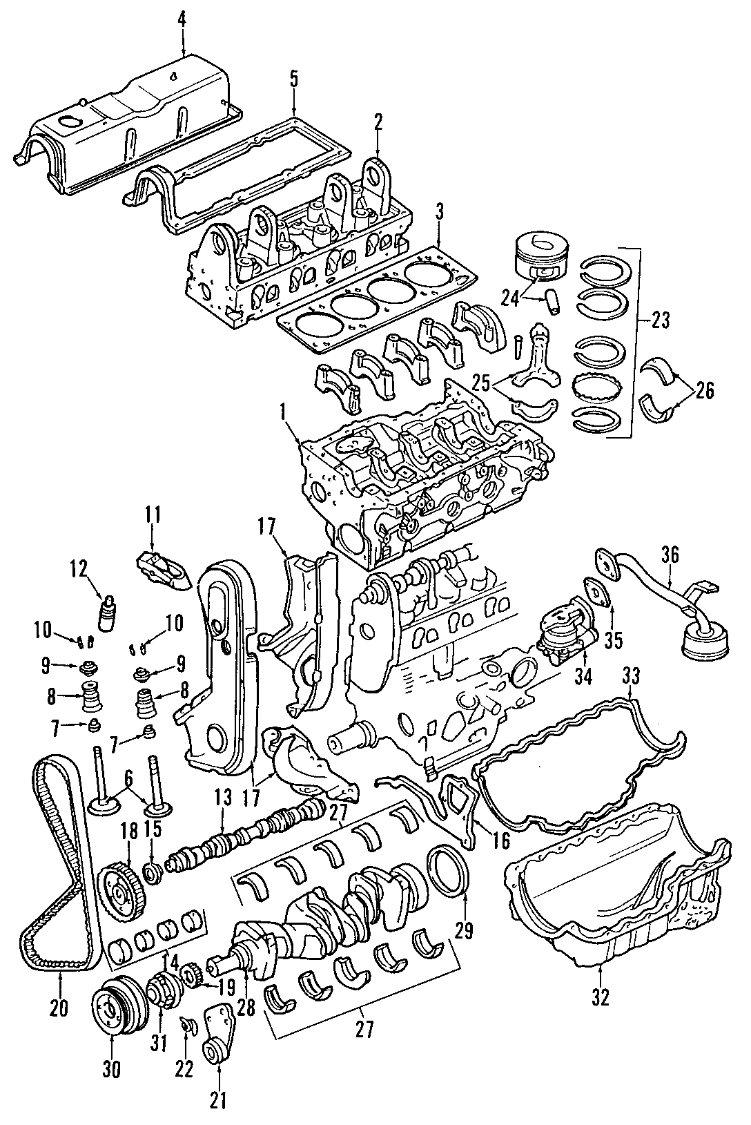 2002 Mazda B-Series Engine Timing Cover. 2.3 LITER, lower