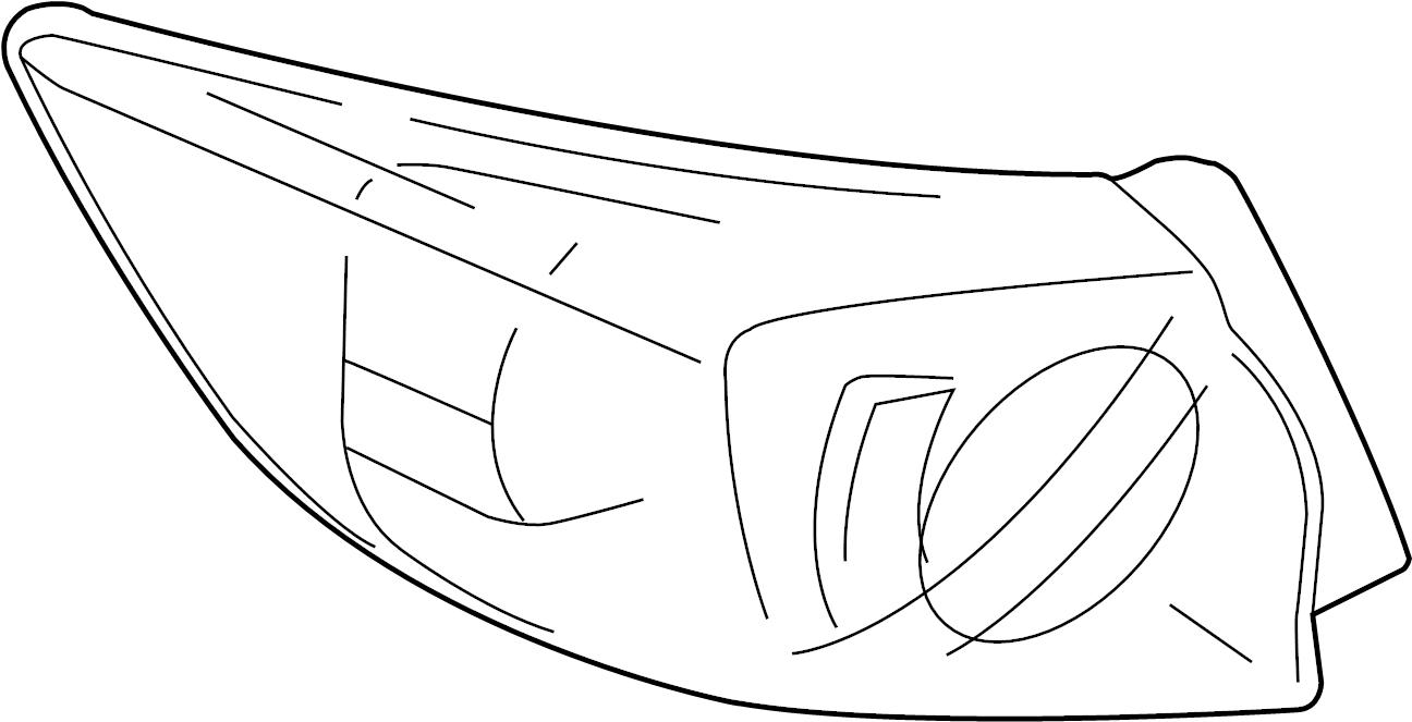 Mazda Mazda 3 Tail Light Assembly. HATCHBACK, w/o LED