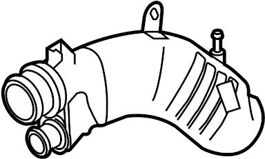 2008 Mazda CX-7 Engine Air Intake Hose. 2.3 LITER