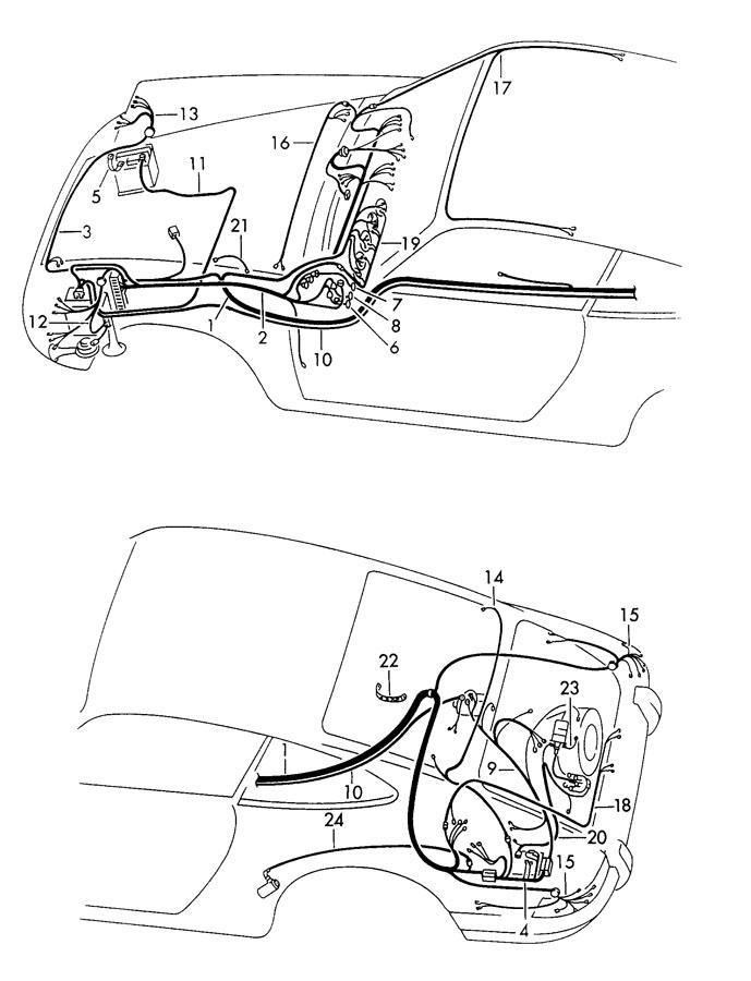 1973 Porsche 911 wiring harnesses