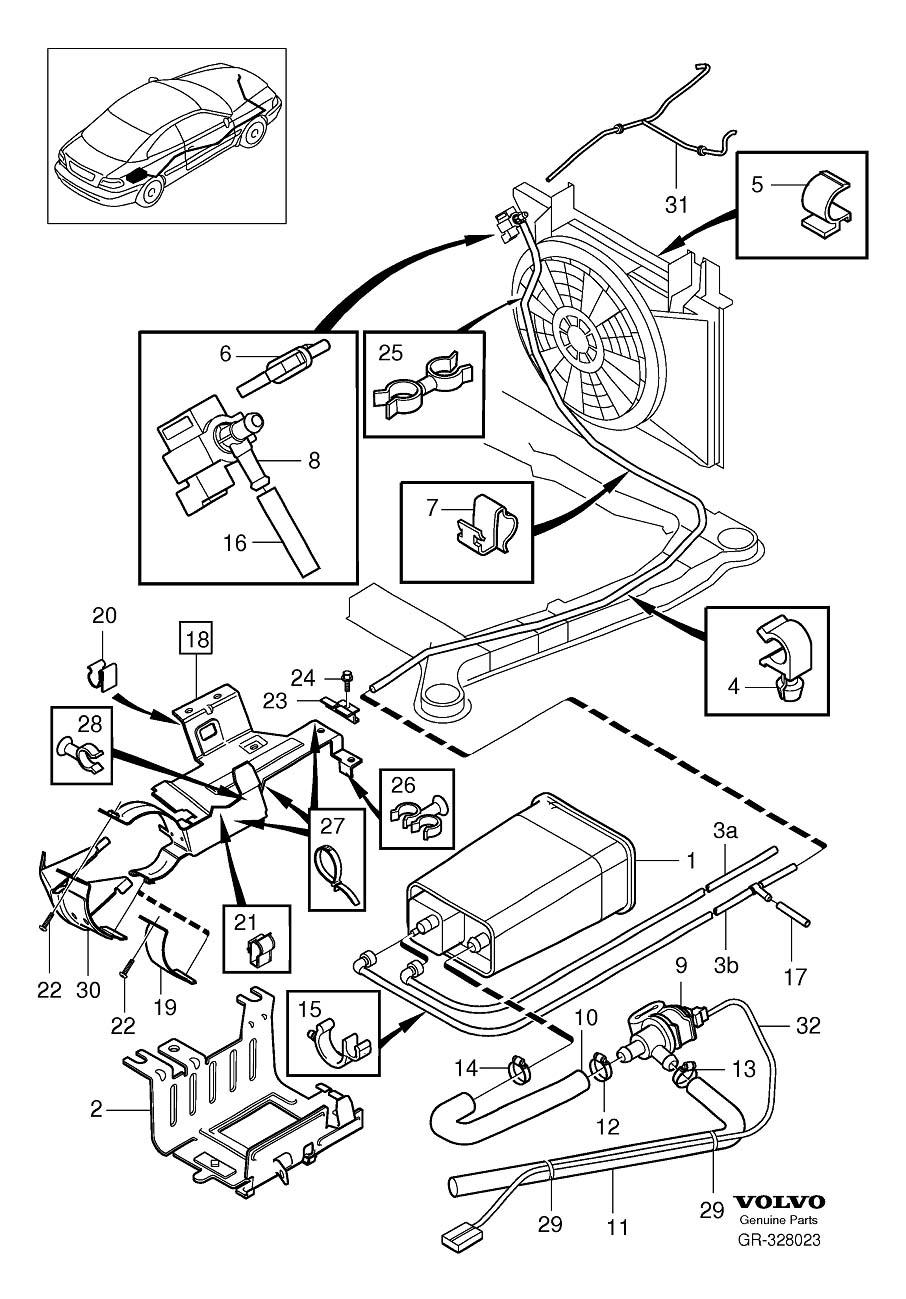 Volvo S70 Exhaust System Diagram, Volvo, Free Engine Image