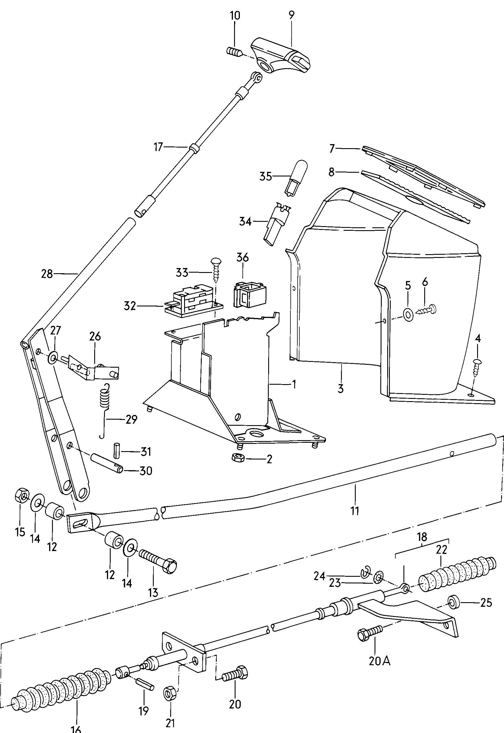 1981 Volkswagen Vanagon Shift mechanism