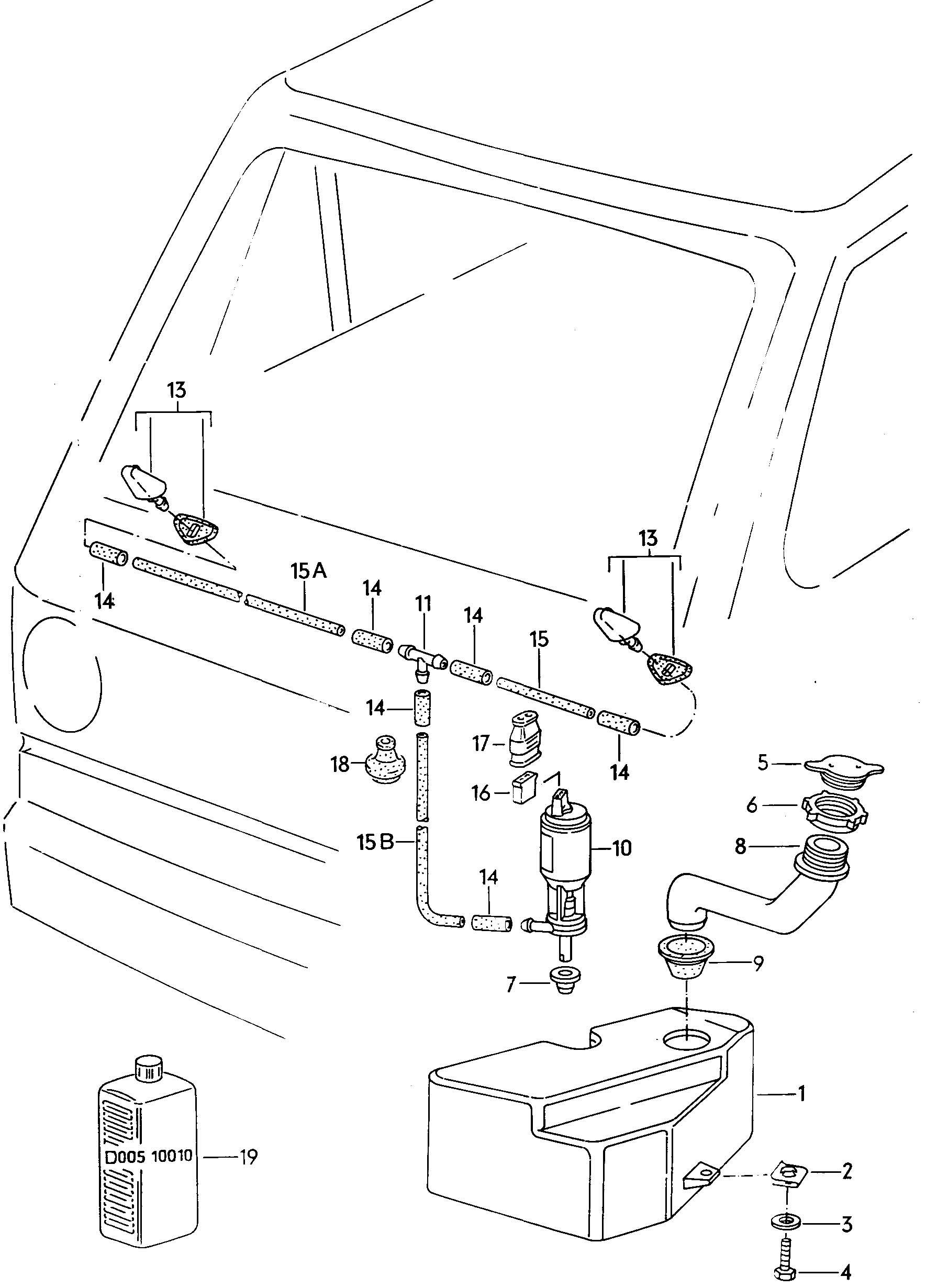 1980 Volkswagen Vanagon Windshield washer unit
