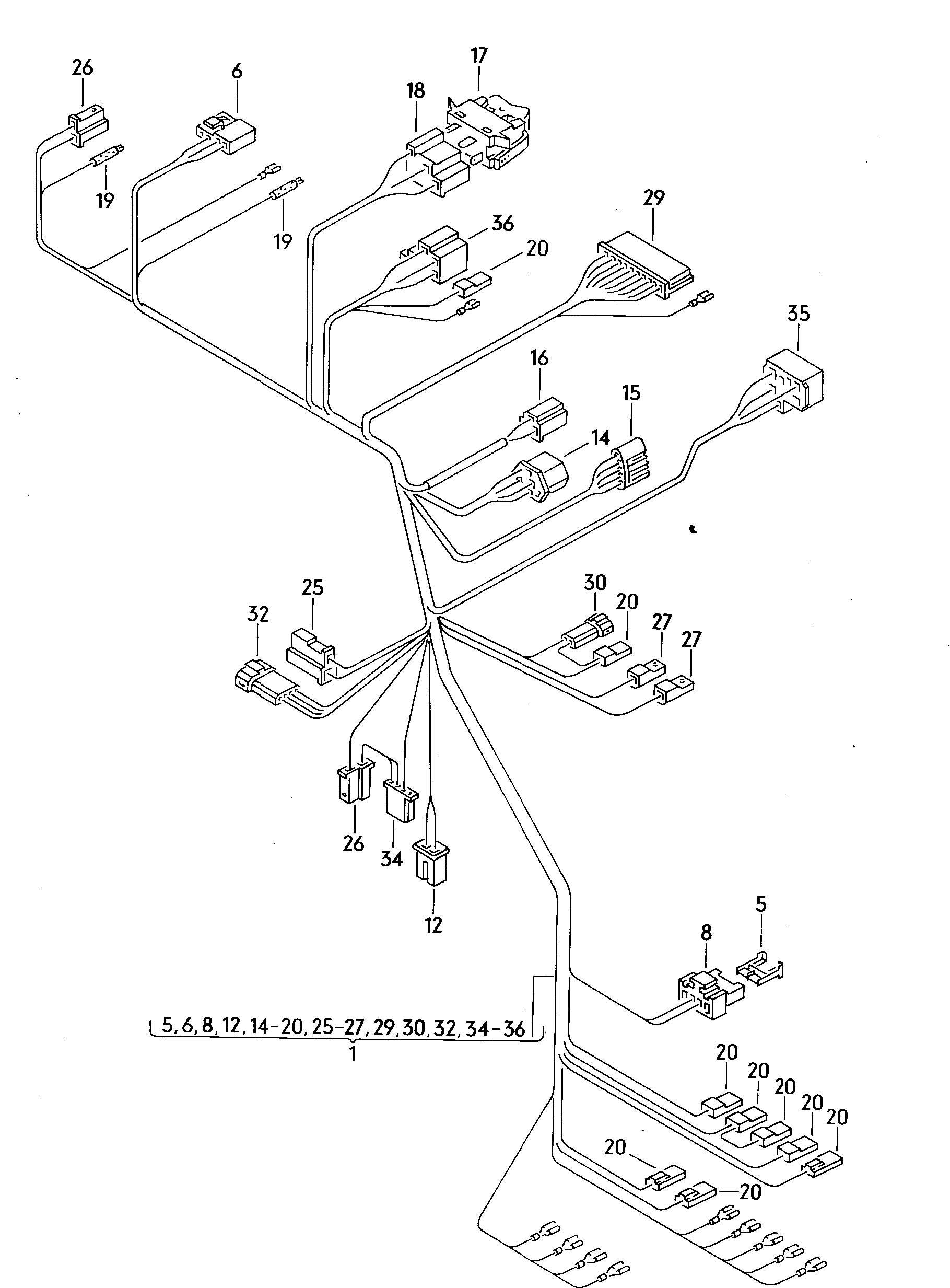 Volkswagen Vanagon Connecting piece clip automatic adapter