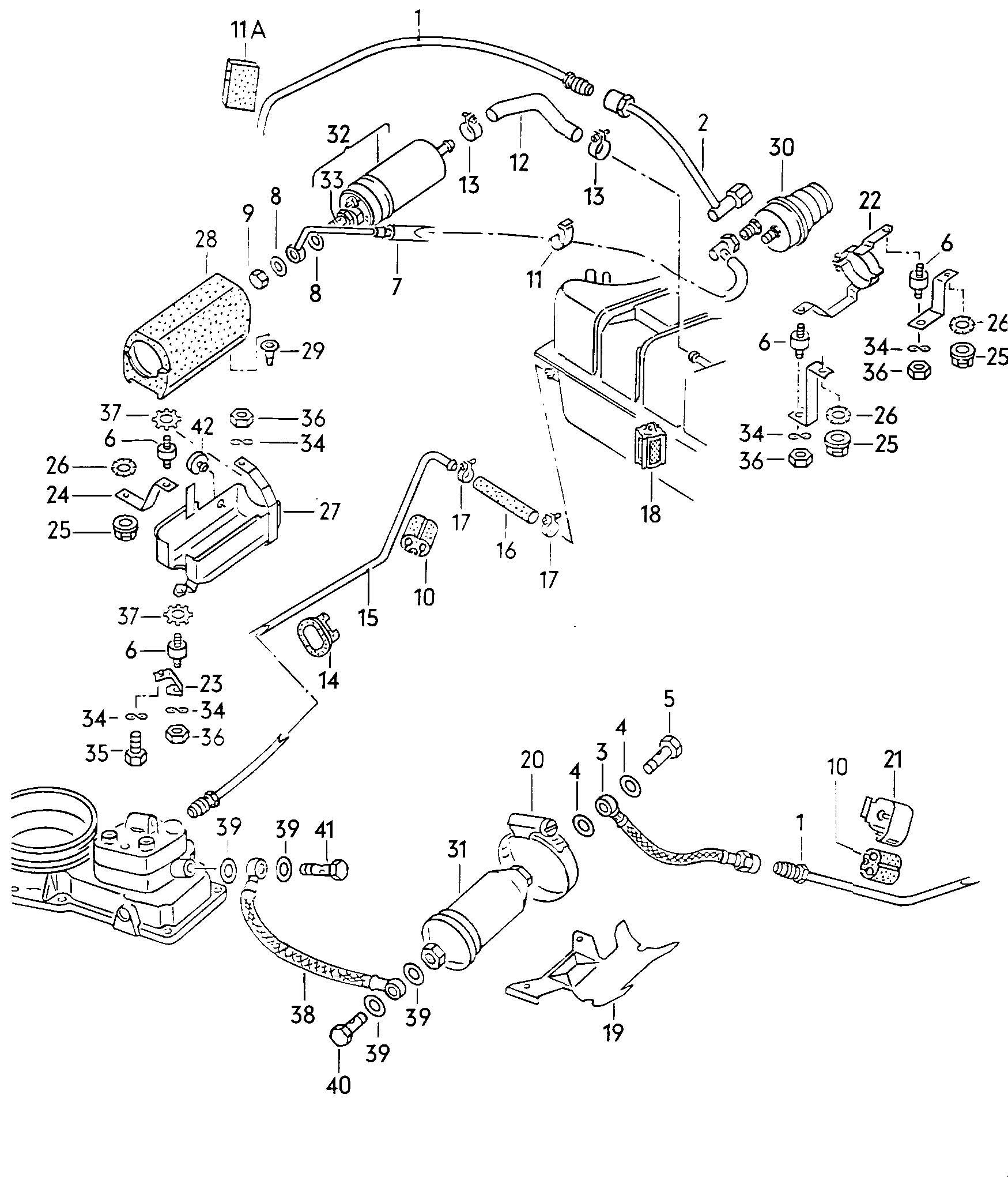 1988 Volkswagen Scirocco Accumulator fuel filter fuel pump