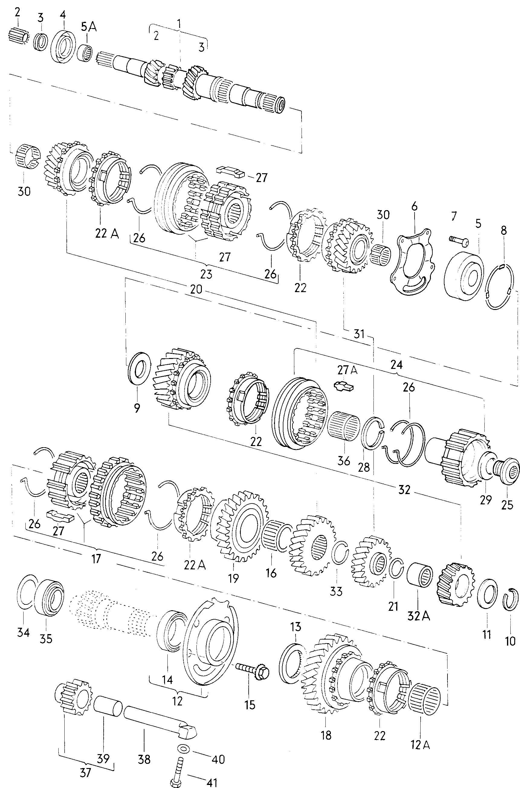 Volkswagen Cabrio/Cabriolet 2.0L Needle bearing