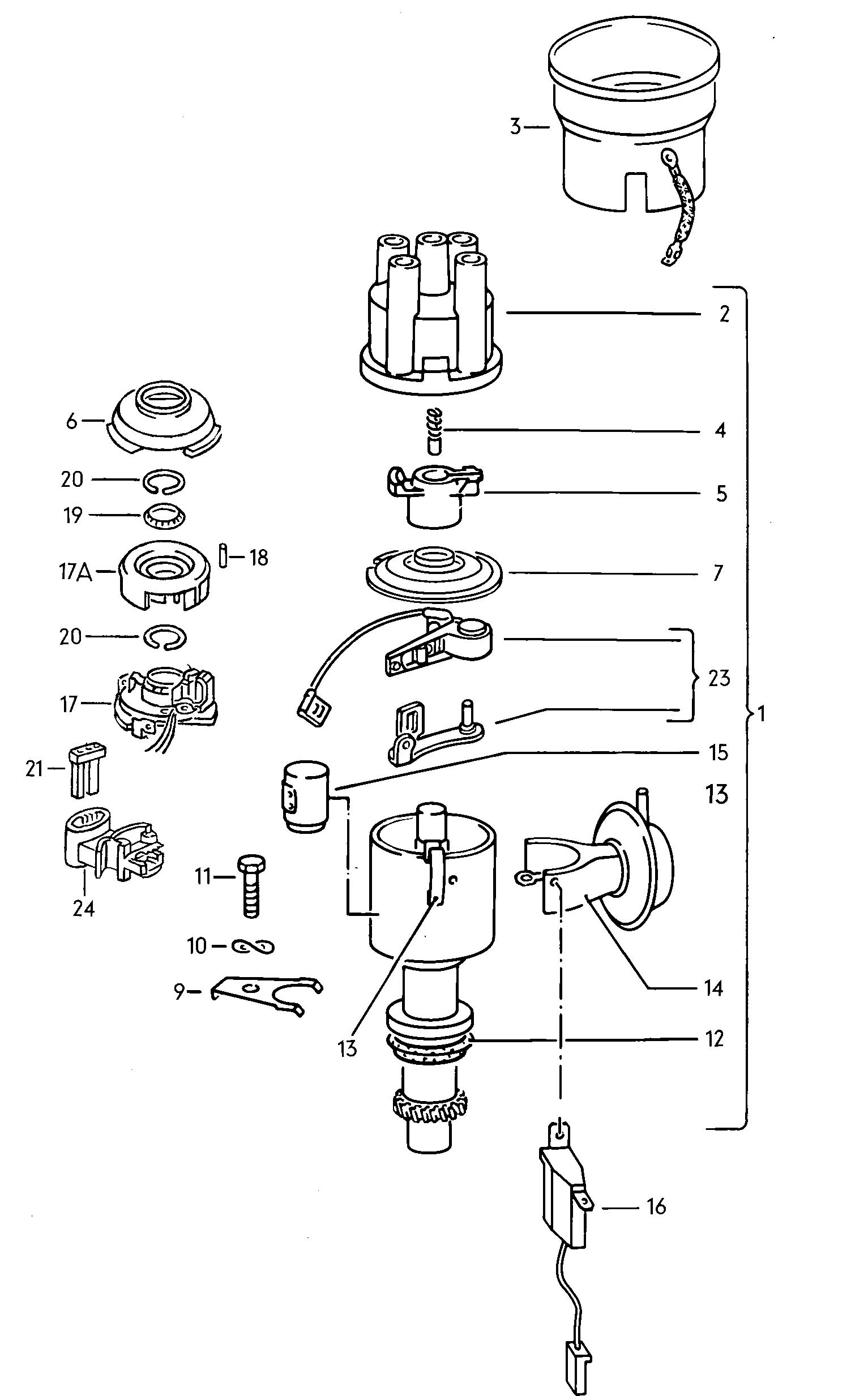 Volkswagen Jetta Hall Sender With Mounting For Distributor