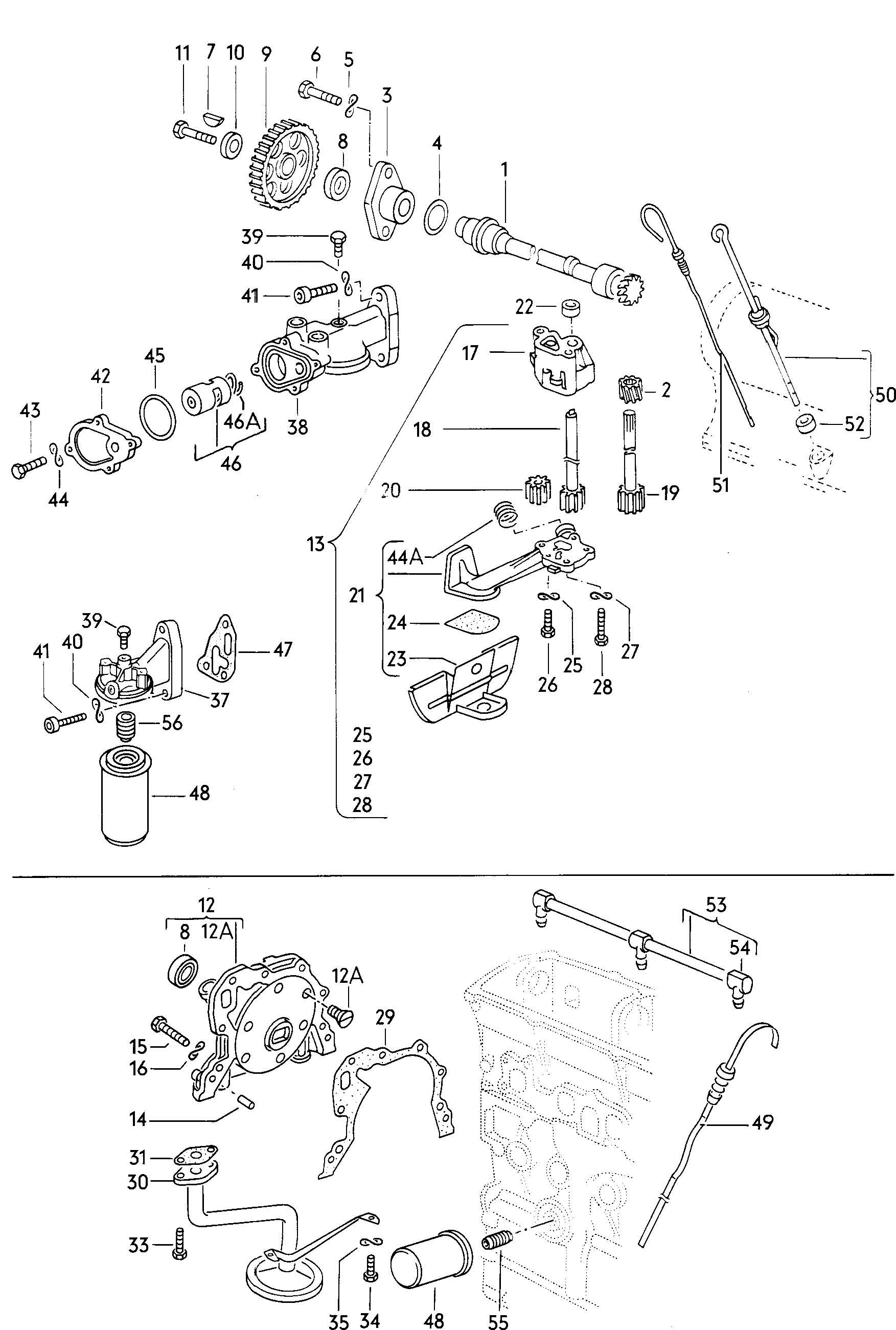 Shift mechanism for 5 speed manual transmiss.