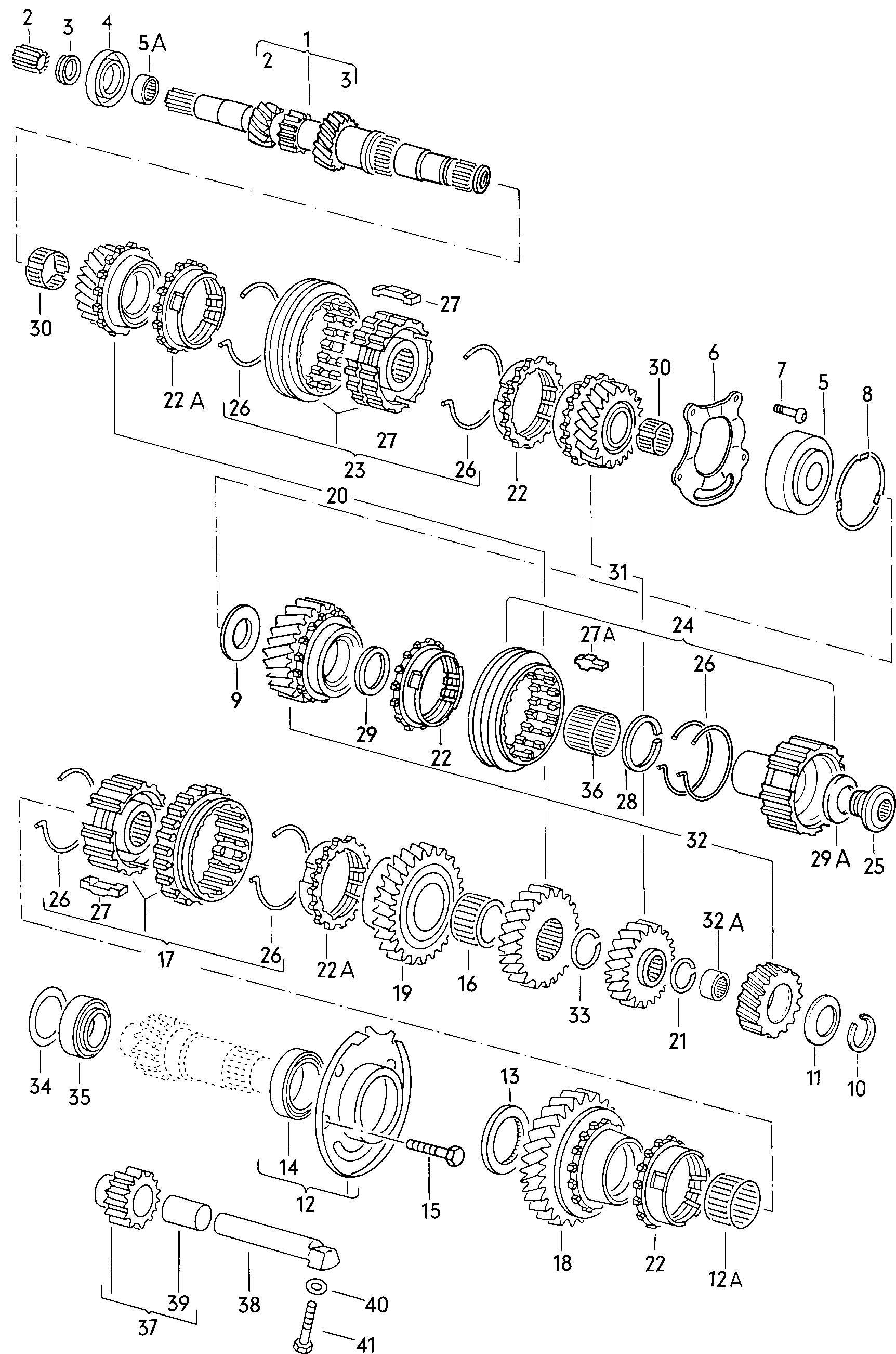 Volkswagen Scirocco Reverse gear. BACK UP GEAR