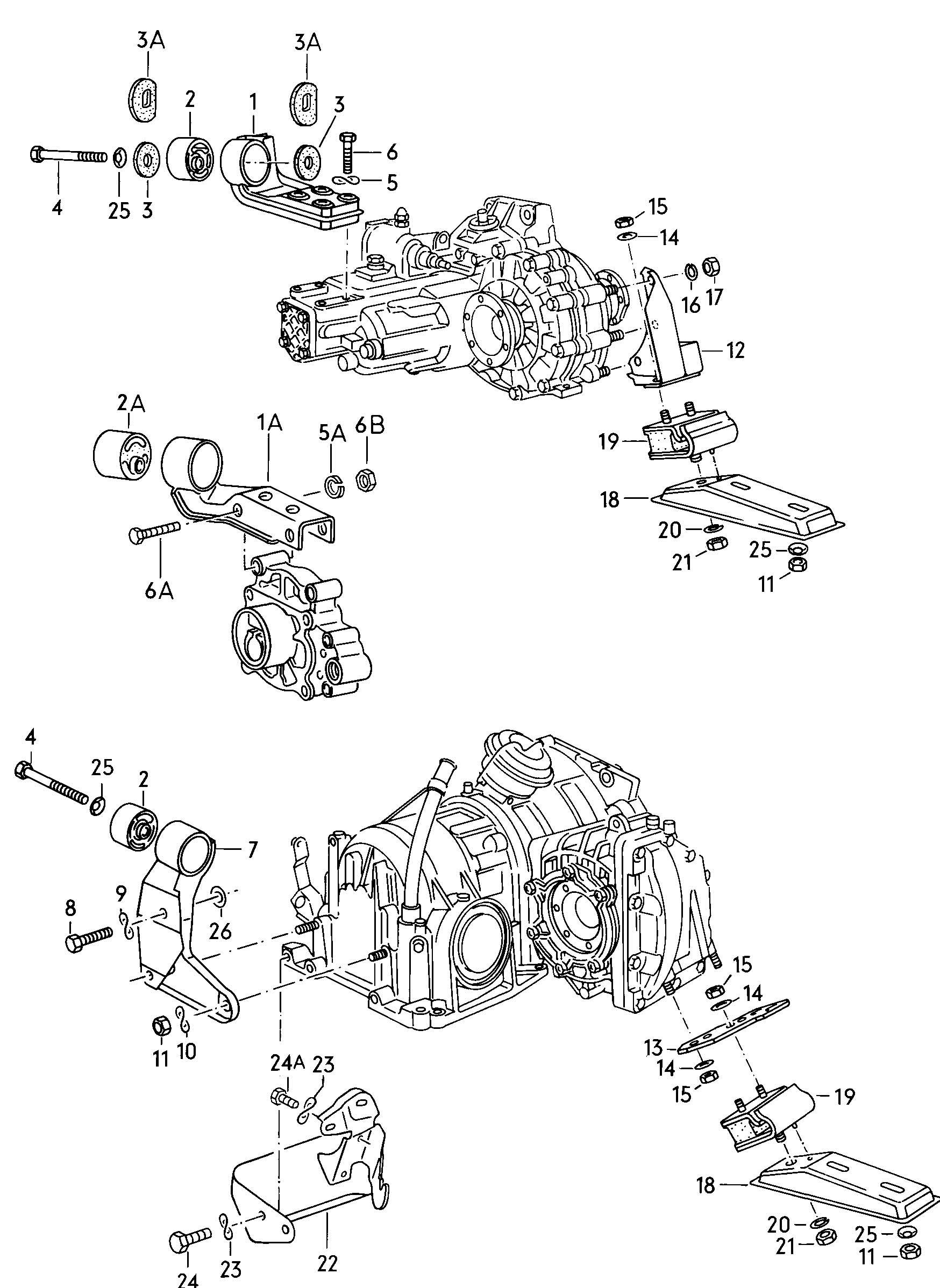 Volkswagen Rabbit Support for manual transmission