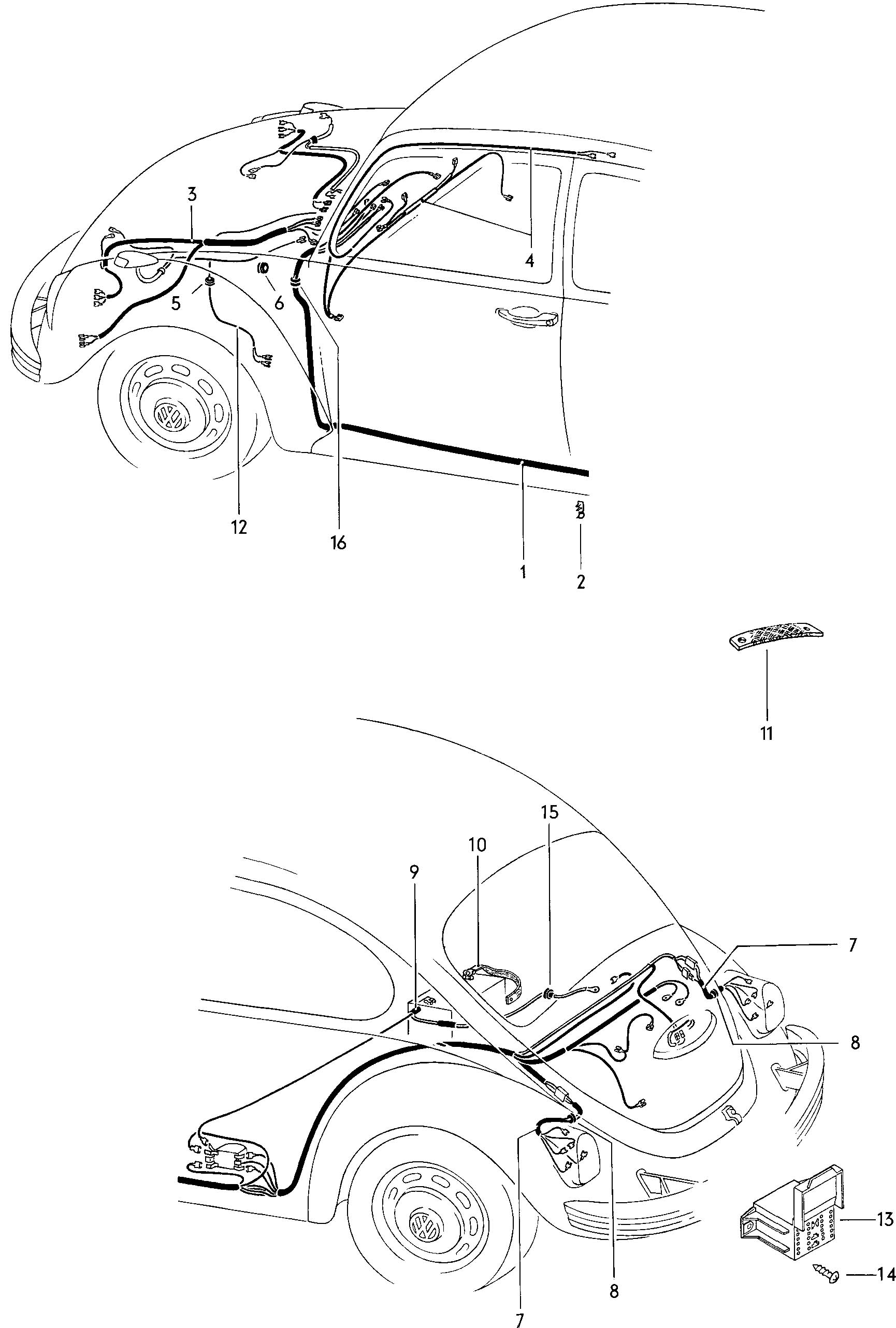 1967 Vw Bug Tail Light Wiring Diagram. Diagram. Auto