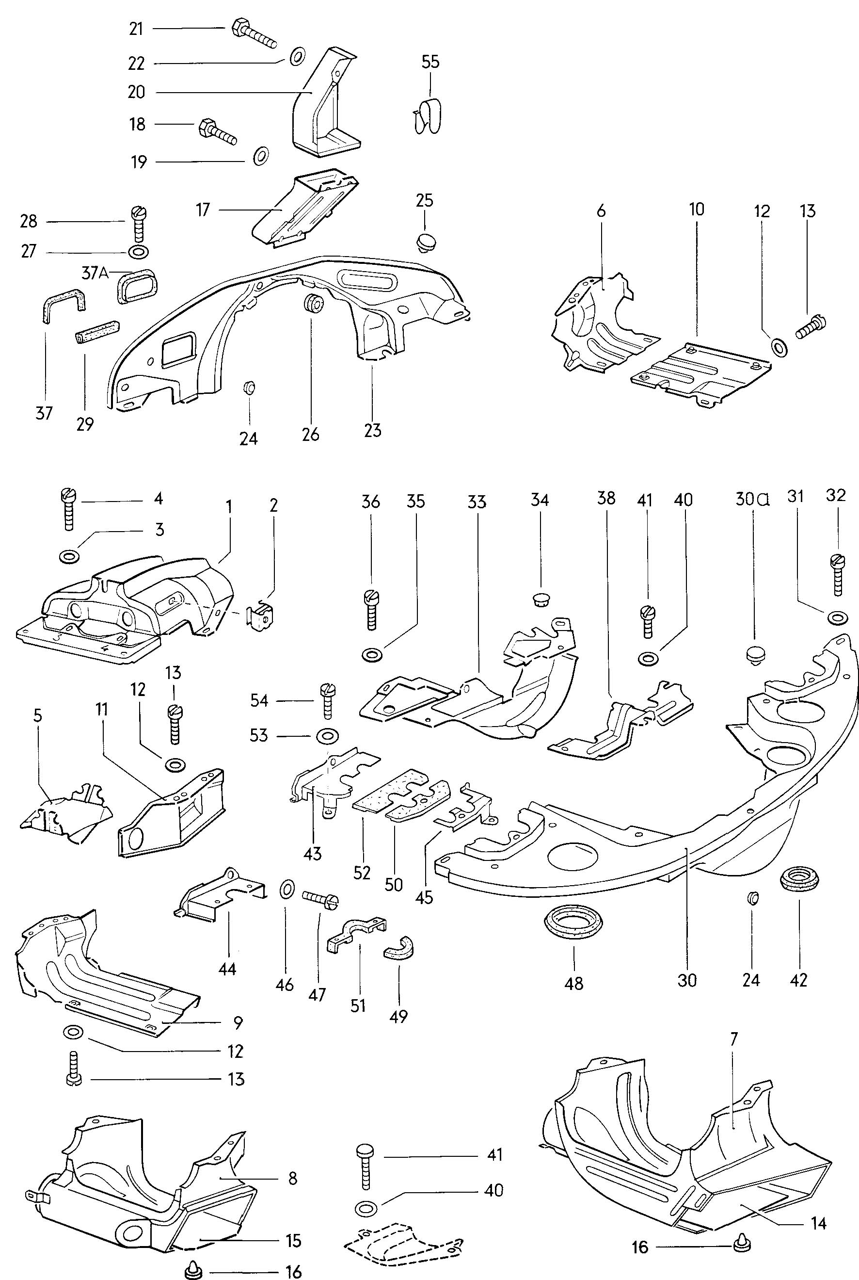 Volkswagen Beetle Engine Cover Plates
