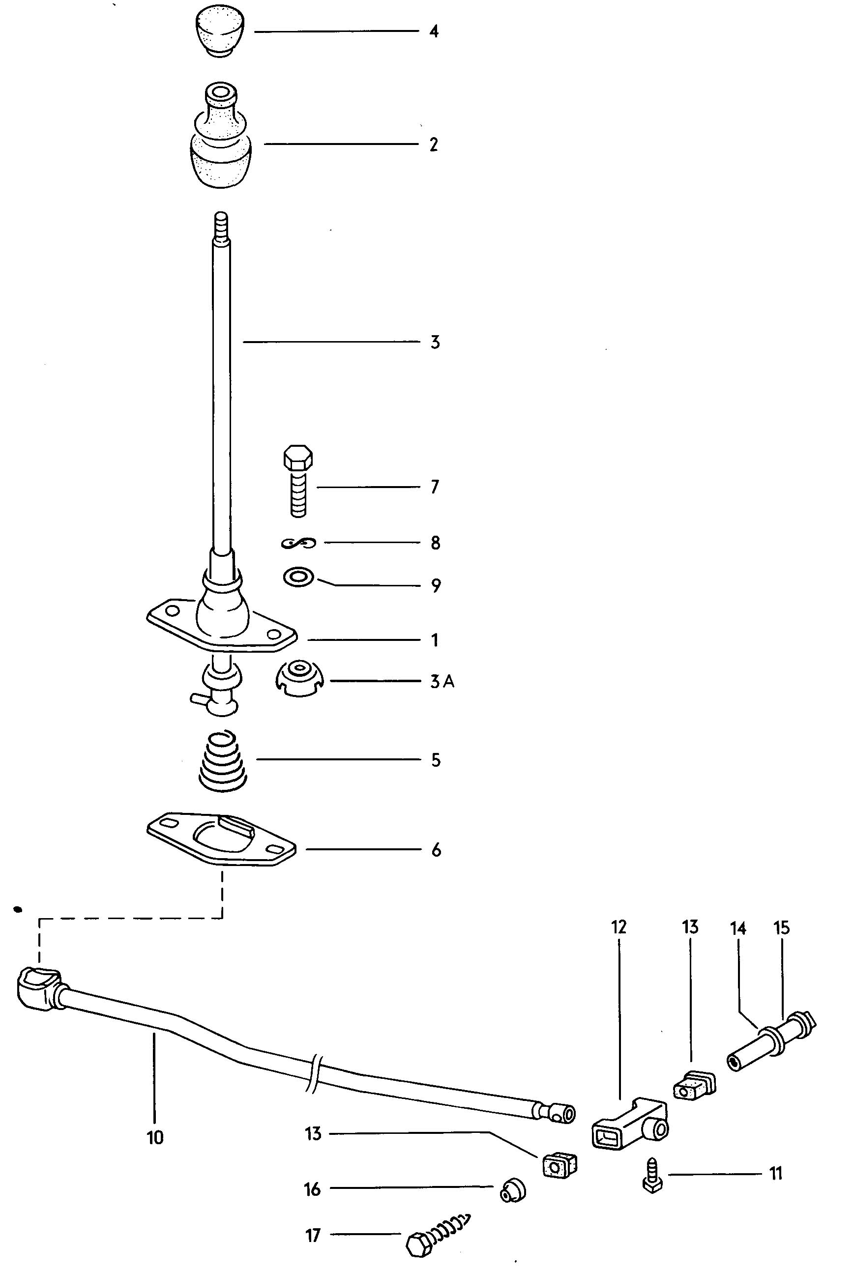 Volkswagen Beetle Shift mechanism manual transmission