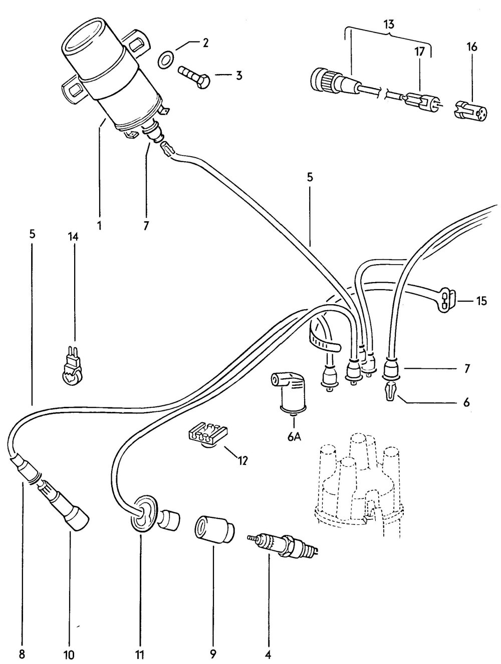 medium resolution of vw distributor coil wiring wiring diagram official vw beetle ignition coil wiring vw beetle ignition coil wiring