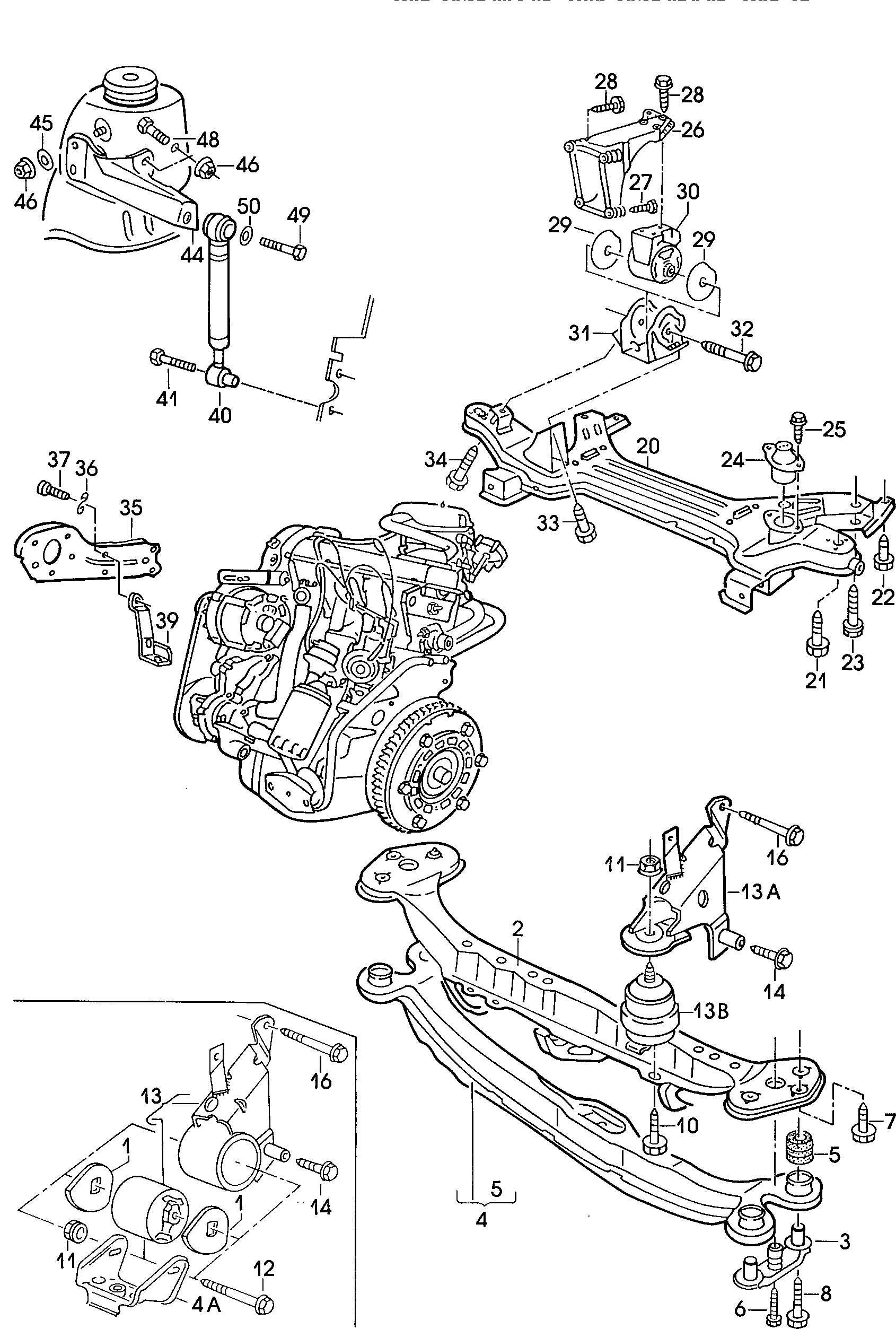 Volkswagen Jetta Bolt Mount Arm Lateral Suspension