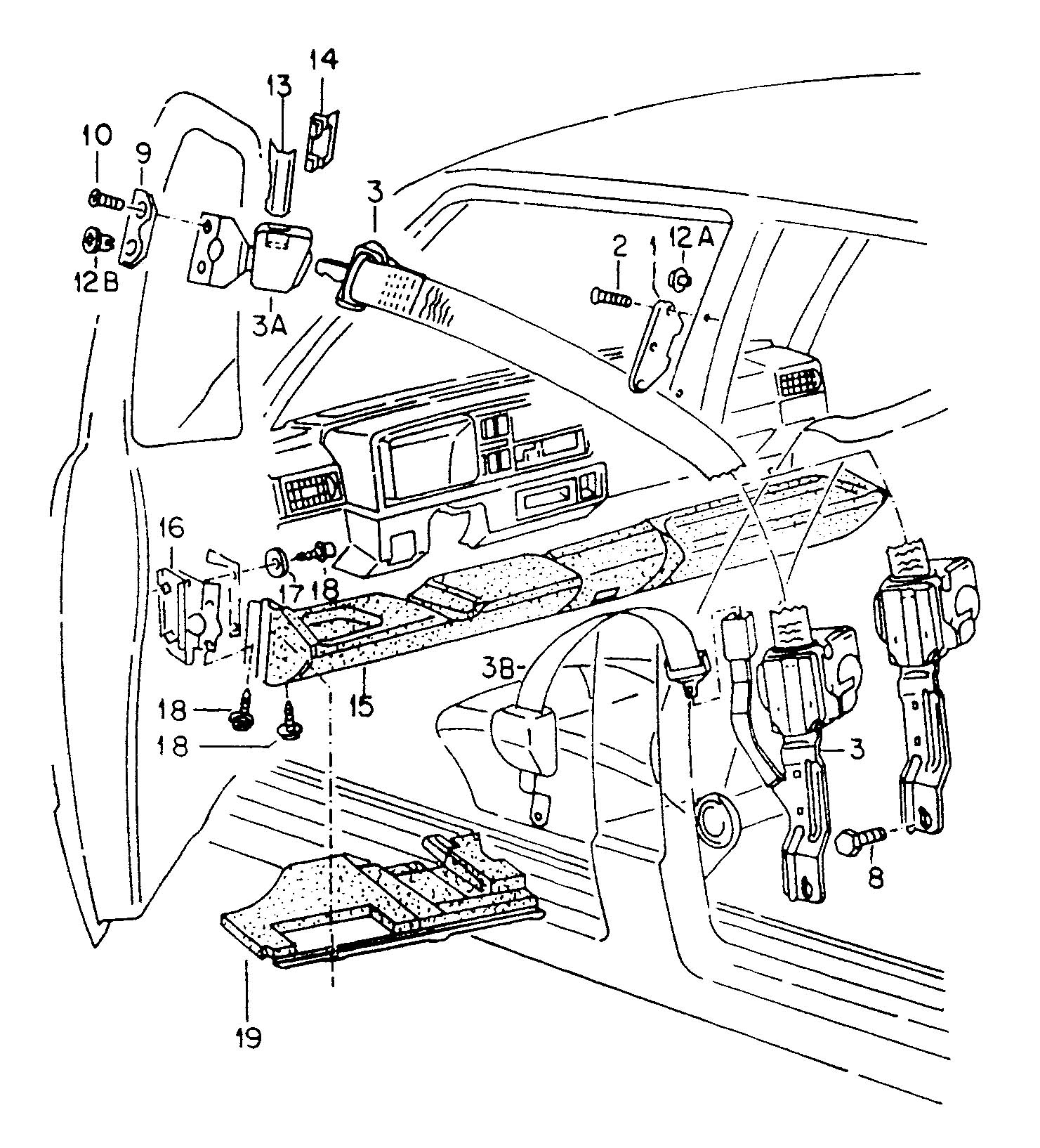 Recaro Seat Belt Harness Bar