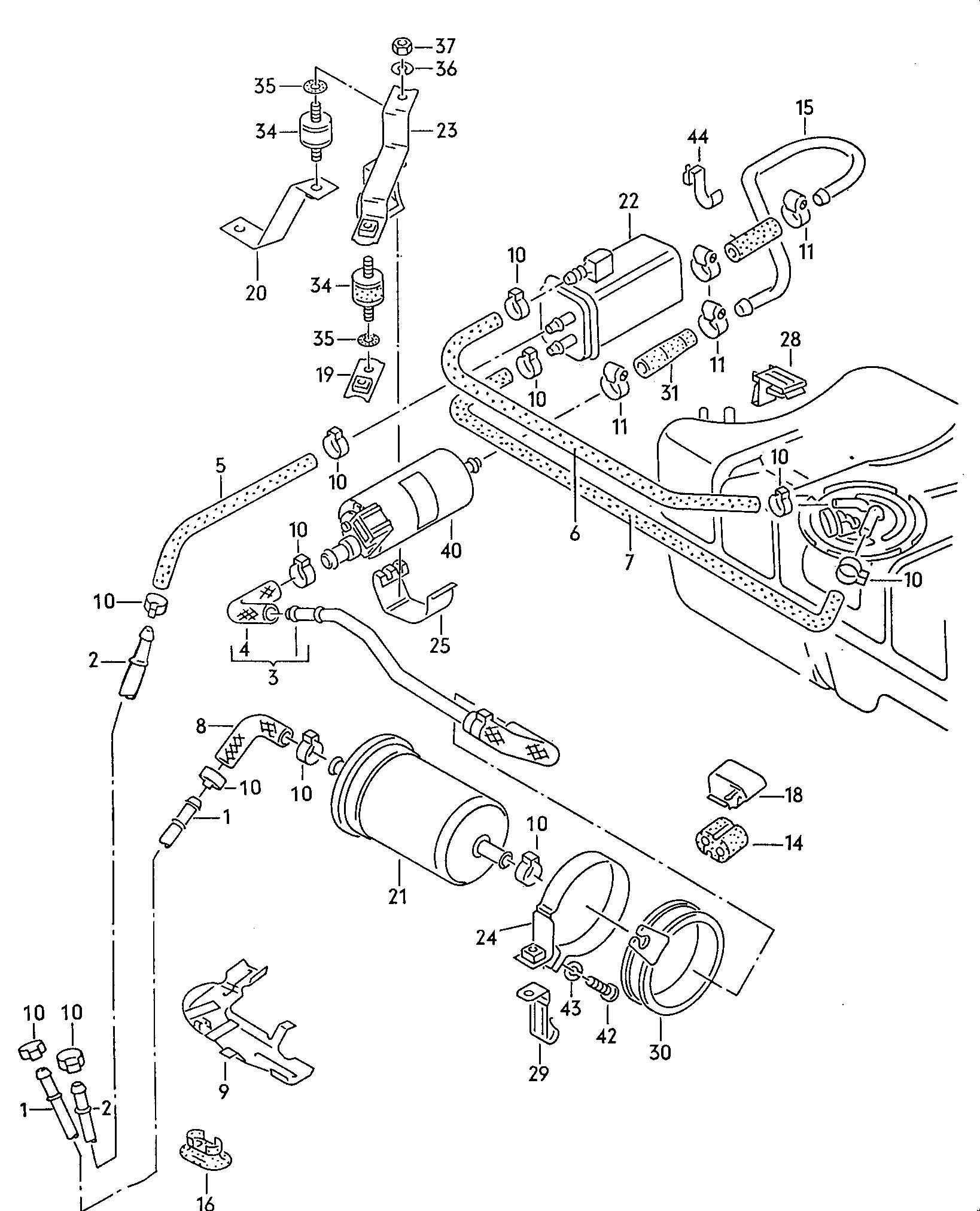 1984 Volkswagen (VW) Cabrio/Cabriolet Fuel filter fuel