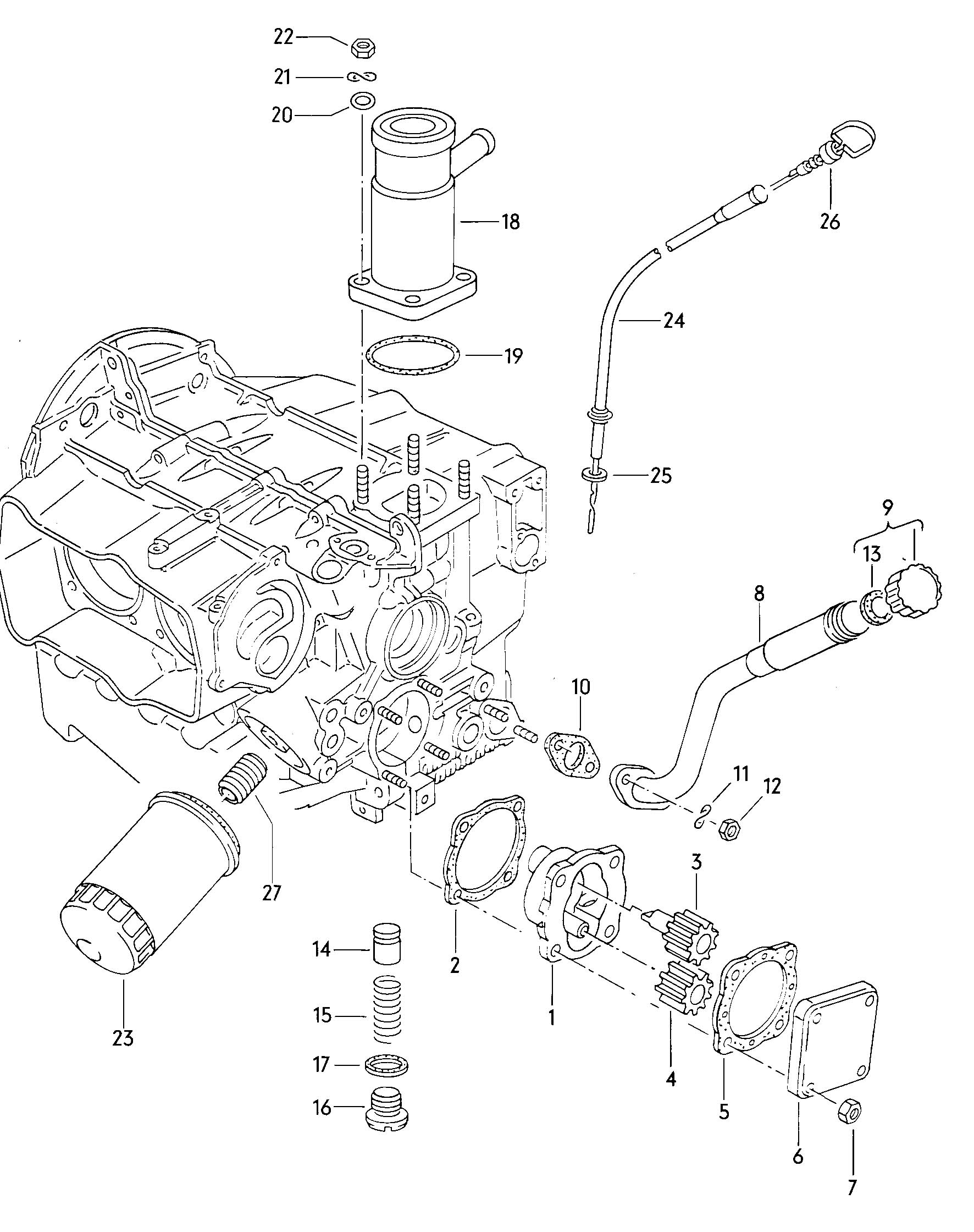 1982 Volkswagen Vanagon Oil filler tube also use:. FILLER