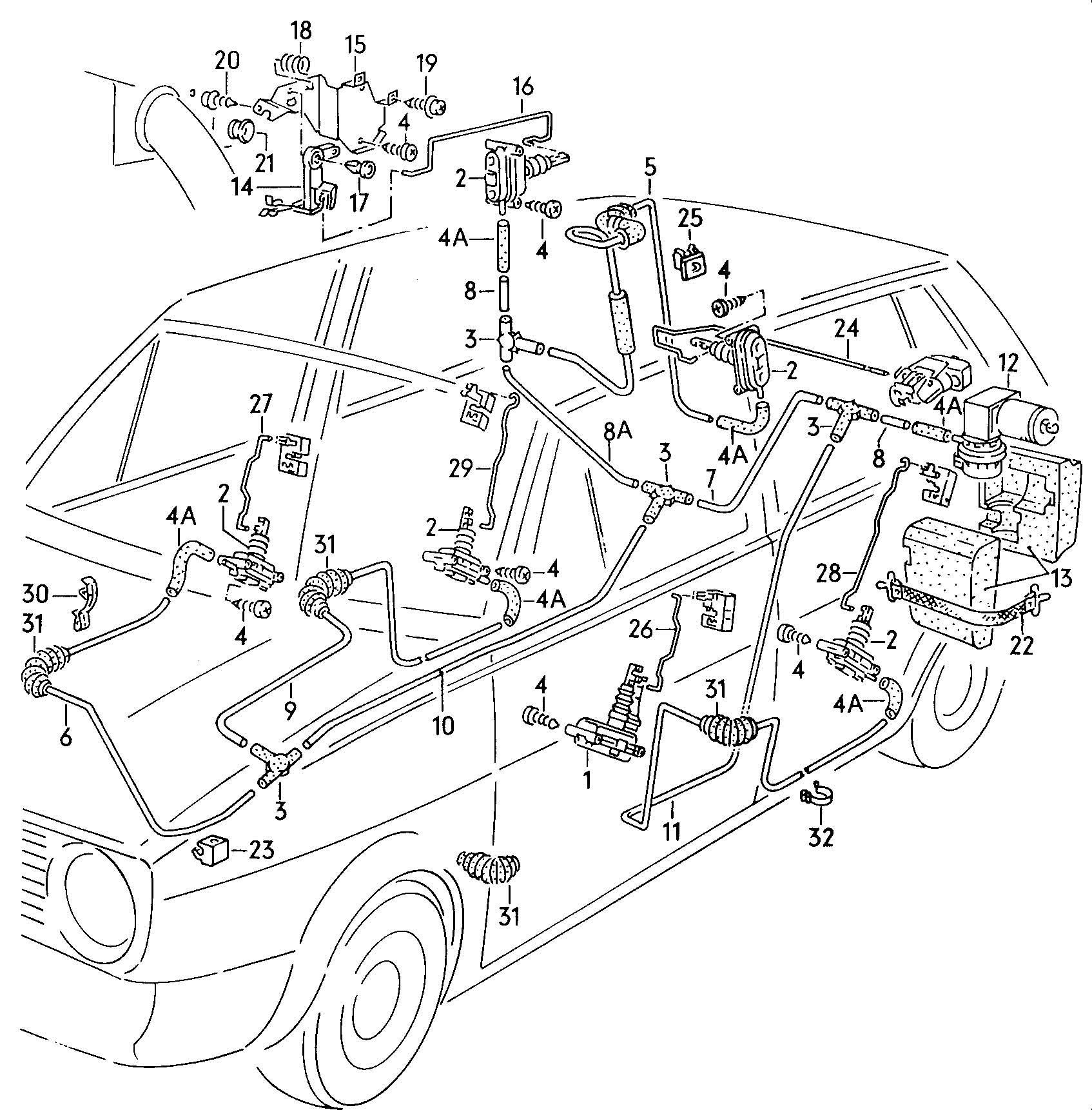 Volkswagen Jetta Pillar A Inner Hose Shorten To