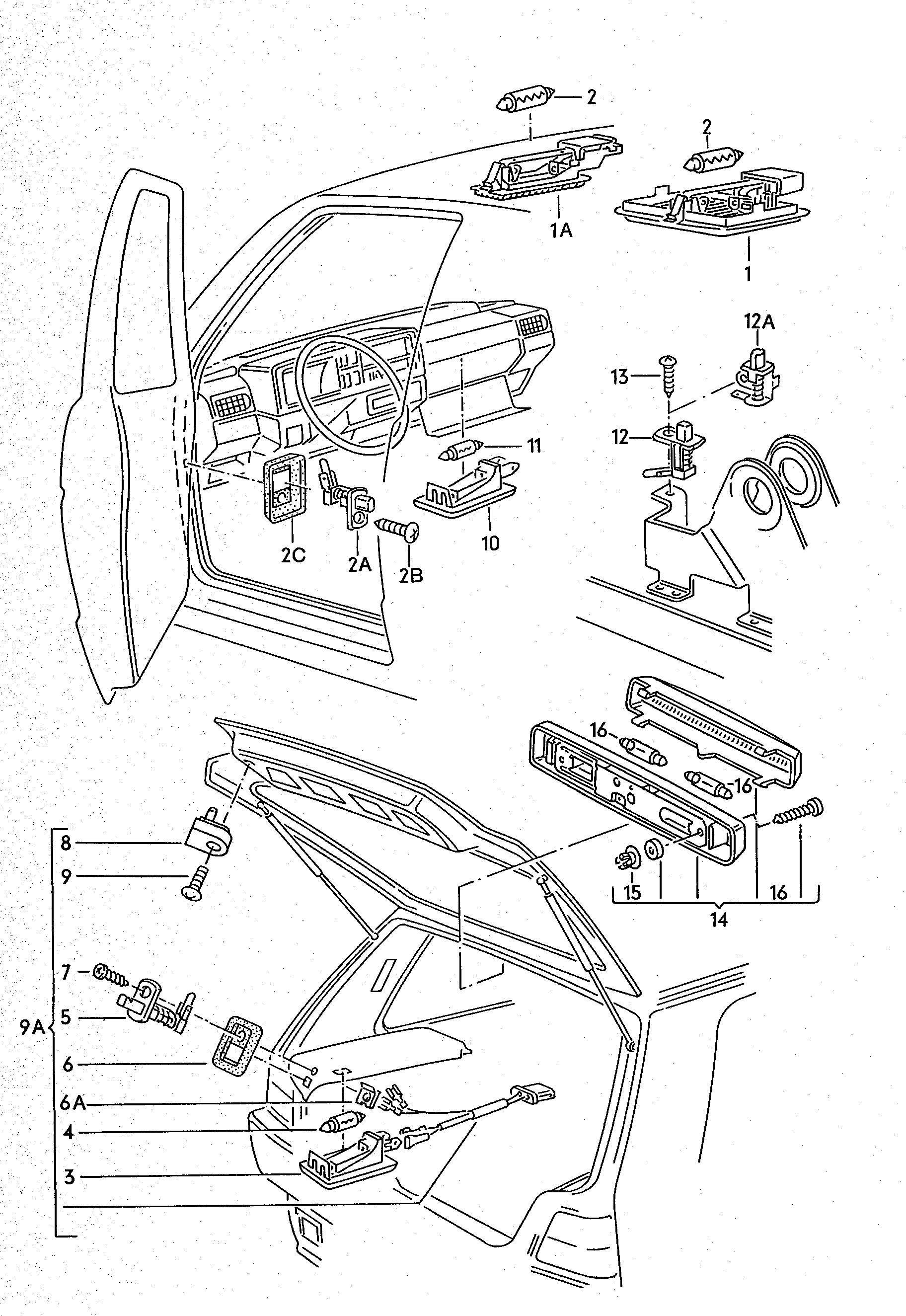 Volkswagen Jetta Step Light Interior Light Glove Box