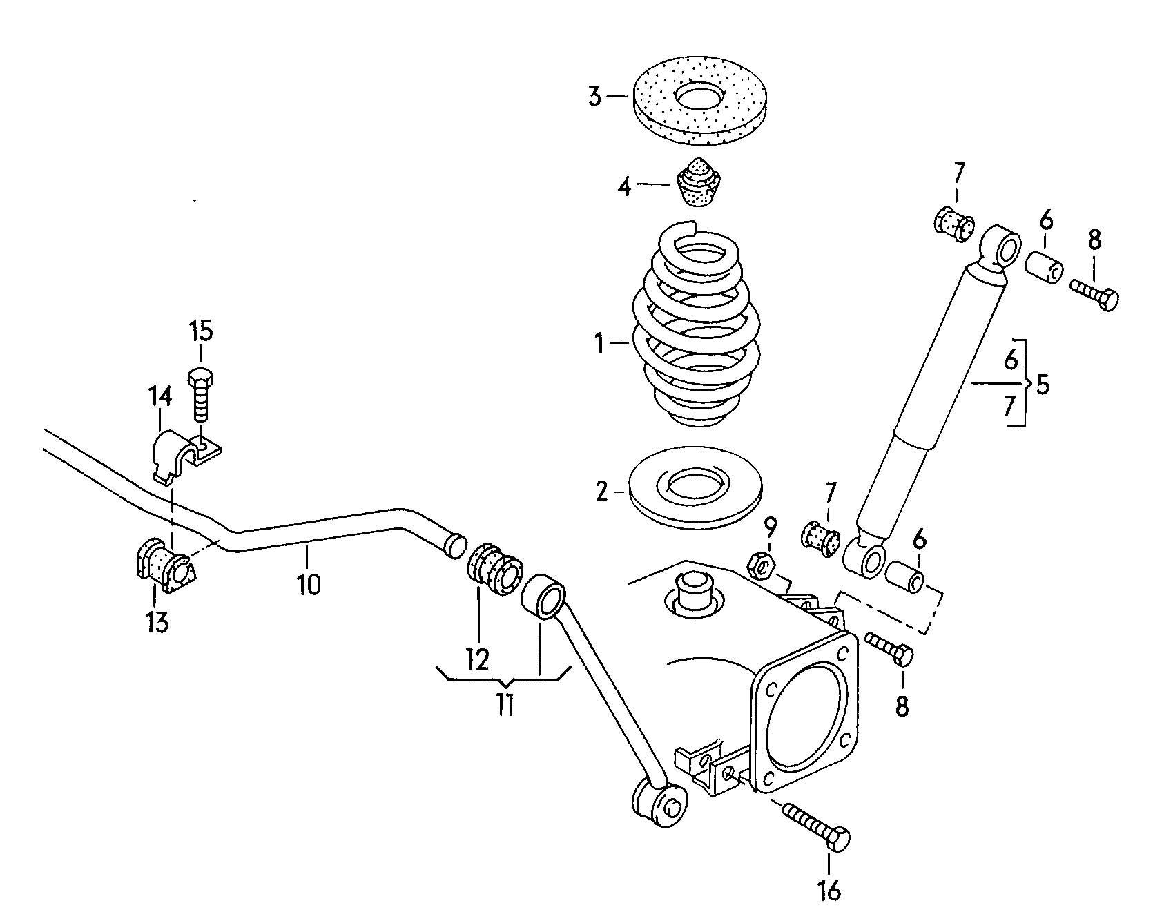 Suspension coil spring shock absorber stabilizer
