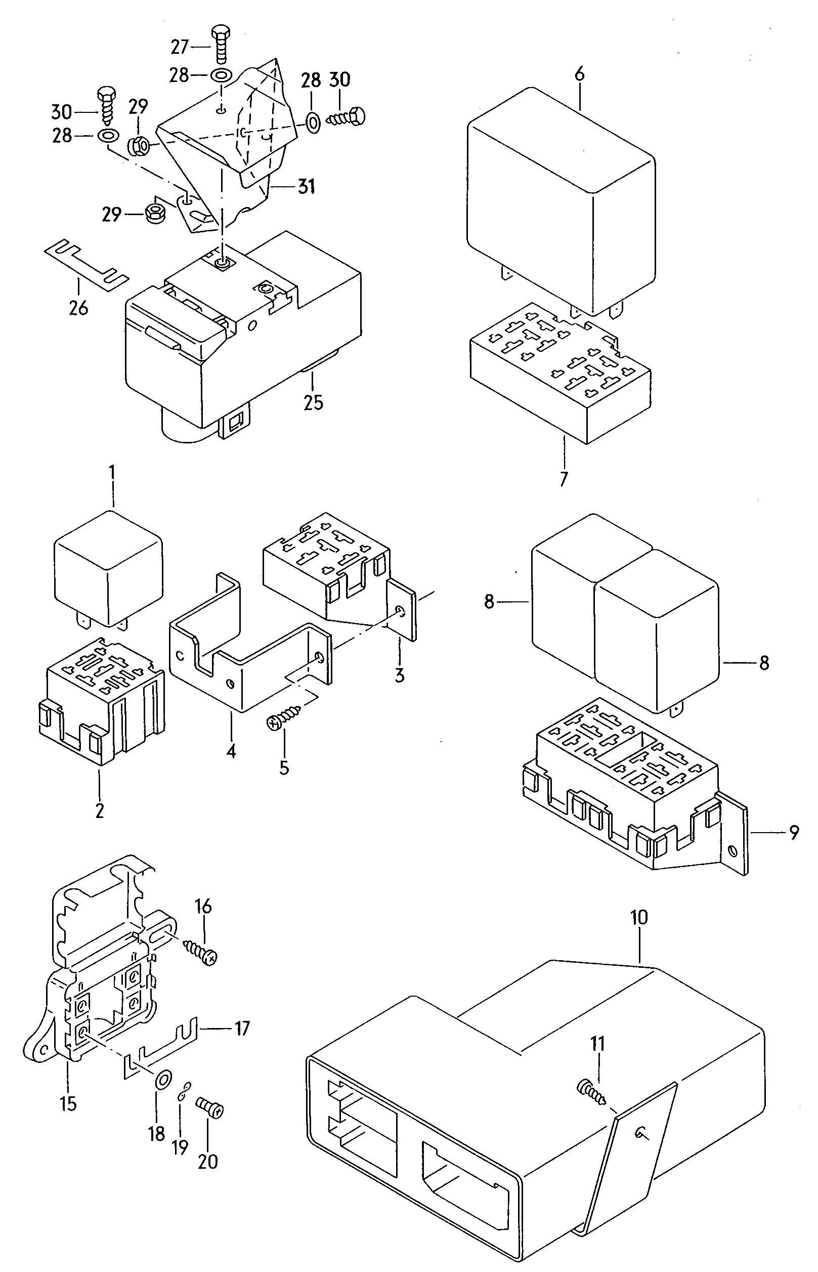 Windows lifters electric spoiler electronic control module